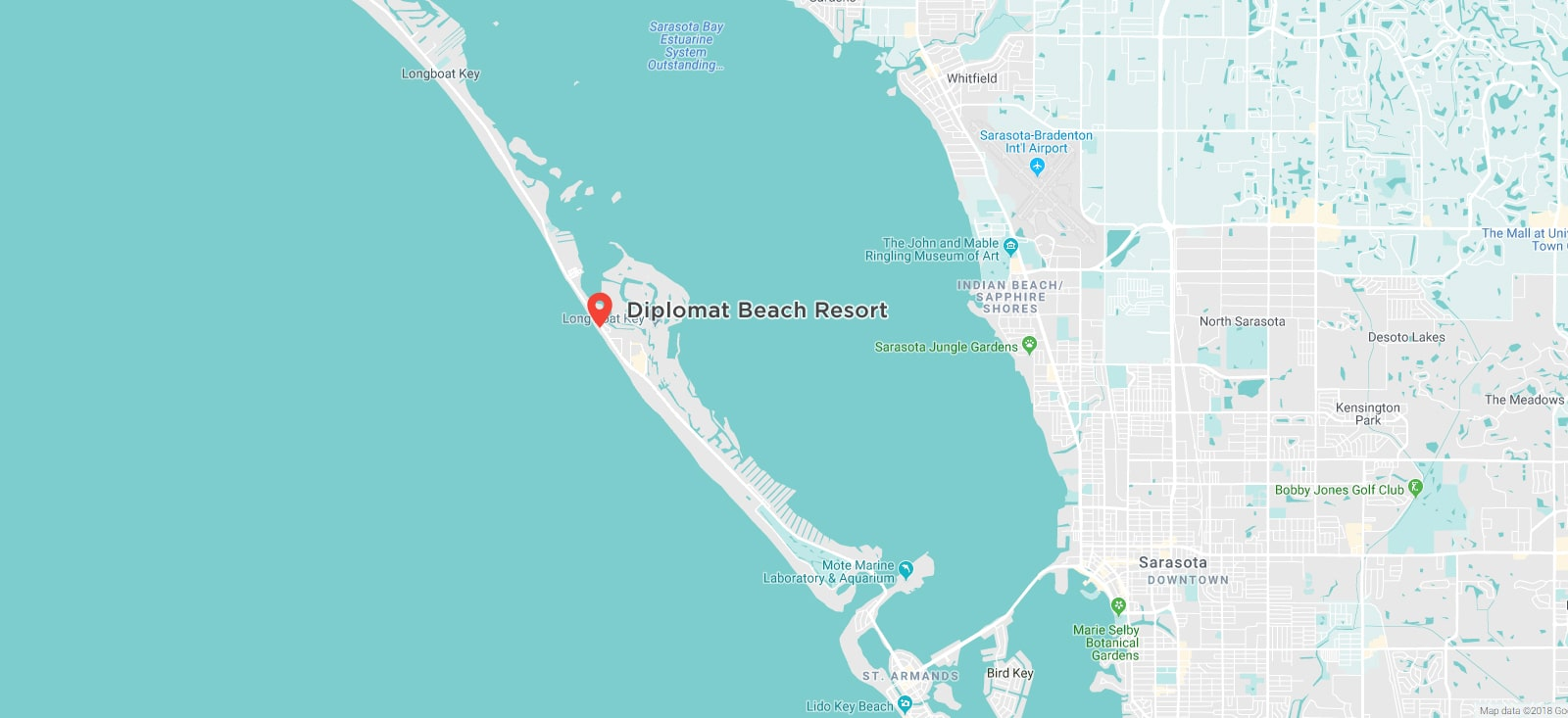Diplomat Beach Resort map